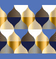 navy blue and gold luxury geometry pattern vector image
