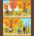 old pensioner reading daily newspaper in park vector image vector image