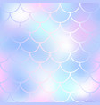 pastel fish scale pattern with color mesh vector image vector image