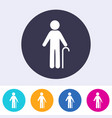 pensioner man sign icon vector image