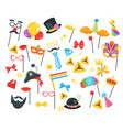 purim jewish holiday set vector image