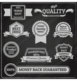 Quality labels chalkboard vector image