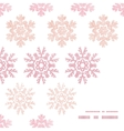red christmas snowflakes geometric textile texture vector image vector image
