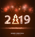 retro count 2019 new year greeting card vector image vector image