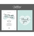 Save the date card wedding invitation vector image vector image