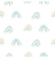 seamless pattern with pastel color rainbow shapes vector image