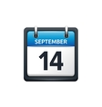 September 14 Calendar icon vector image vector image