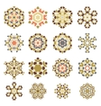 Set of Different Ornamental Rosettes vector image vector image