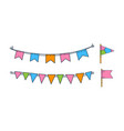 set of hand drawn bunting flags holiday vector image vector image