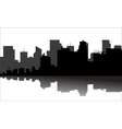 Silhouette of the city beside the river vector image vector image