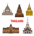 thailand travel landmarks and temples vector image