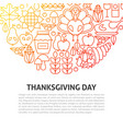 thanksgiving day line concept vector image vector image