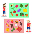 the concept of proper nutrition vector image