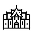 traditional thai building icon thin line vector image vector image
