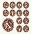 Vintage set capital letters floral Monograms vector image vector image