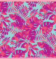vivid bright jungle foliage seamless pattern vector image vector image