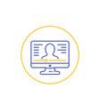webinar online education line icon vector image vector image