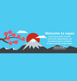 welcome to japan banner horizontal concept vector image vector image