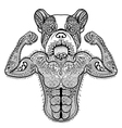 Zentangle stylized strong French Bulldog like vector image vector image
