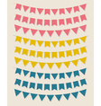 bunting party flags vector image