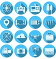 Flat icons for quadrocopter set vector image