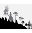 Image of Nature Tree Silhouette Eco banner vector image