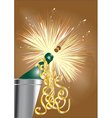 open the champagne vector image