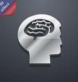 Brain icon symbol 3D style Trendy modern design vector image