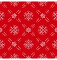 Christmas seamless pattern snowflakes Red vector image