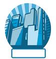 Cityscape Icon Label vector image