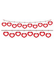 heart frames hanging on string vector image