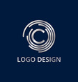 Stock logo letter c of silver vector image