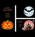 a happy halloween set vector image vector image