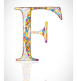 Abstract letter F vector image vector image