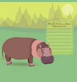 african hippopotamus vector image