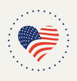 american flag in form heart vector image