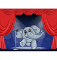 An elephant at the stage vector image