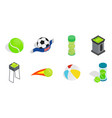 balls icon set isometric style vector image vector image