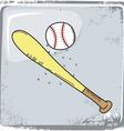 baseball sports theme vector image vector image