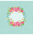 Beautiful Card with Floral Wreath vector image vector image