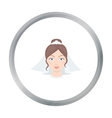 Bride icon of for web and vector image vector image