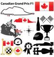 Canada Grand Prix F1 vector image