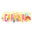 carnival design template vector image