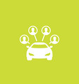 carsharing service icon car and passengers vector image vector image