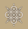 celtic knot - engraved - single chain - rod top vector image vector image
