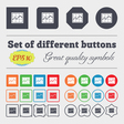 Chart icon sign Big set of colorful diverse vector image