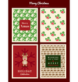 Christmas Card Pattern background vector image vector image