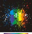 color paint splashes gradient background