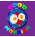 Comic scrambled eggs vector image vector image