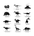 Dinosaur icons vector image
